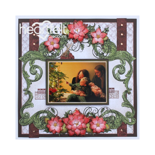 Red Poinsettia Layout