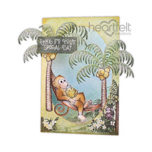 Relaxing Monkey Trifold