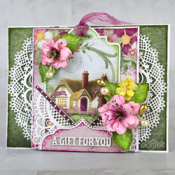 Rose Cottage Tag Card