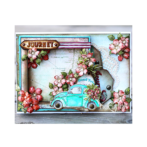 Road Trip Shadow Box Card