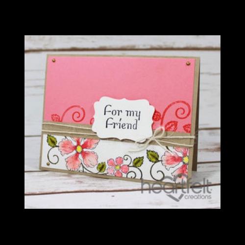Rose Swirl Background Friendship Card