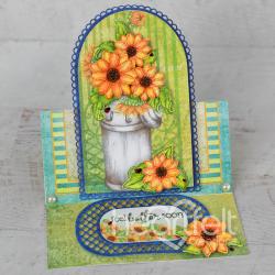 Rustic Sunflower Easel