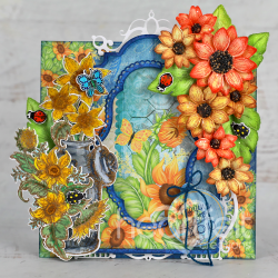 Rustic Sunflower Tag