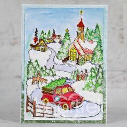 Rustic Winter Scene
