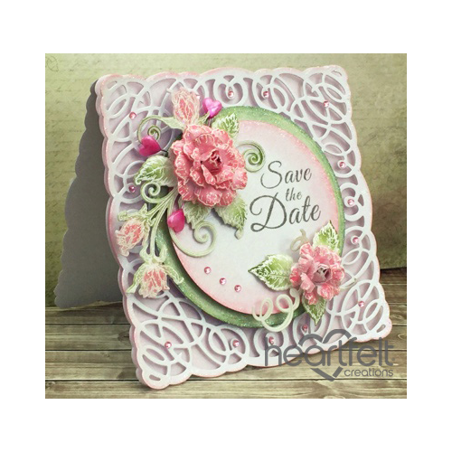 Save The Date Pink Roses