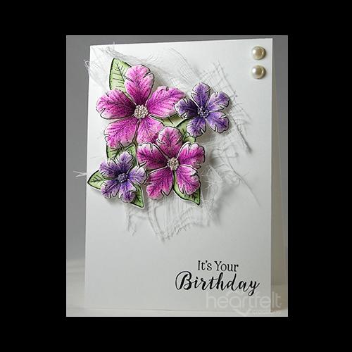 Simple Petunia Birthday