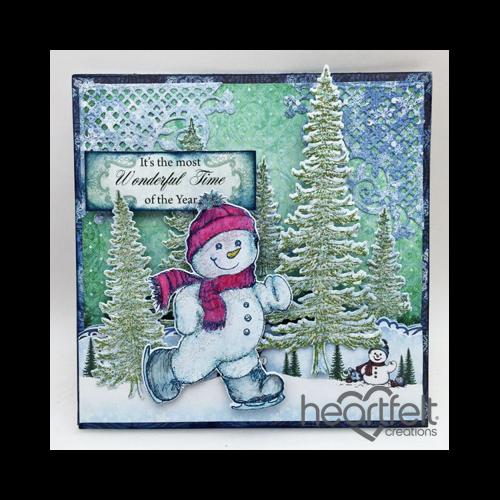 Skating Snowman And Trees