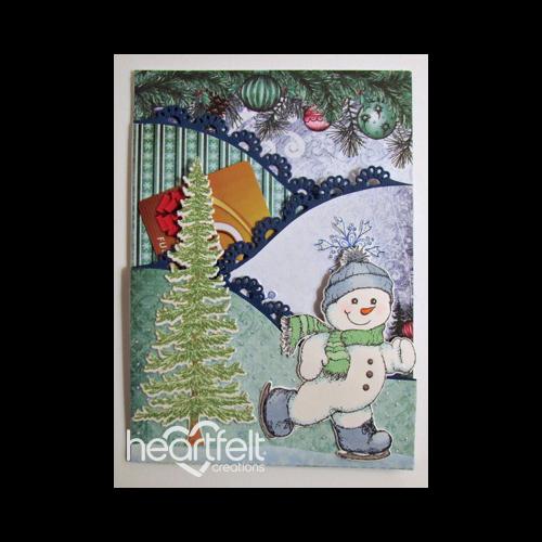 Skating Snowman Pocket Gift Card