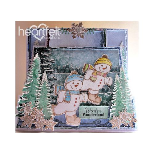 Skating Snowmen Duo