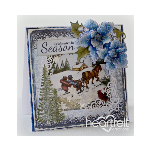 Sleigh Ride Scene Shaker Card