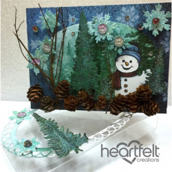 Snowman Card And Clear Box
