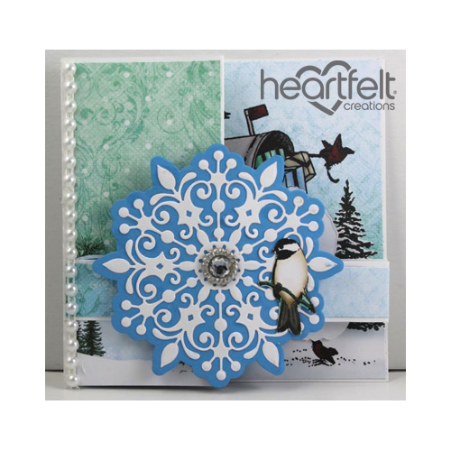 Snowflake And Chickadee Z Fold Card