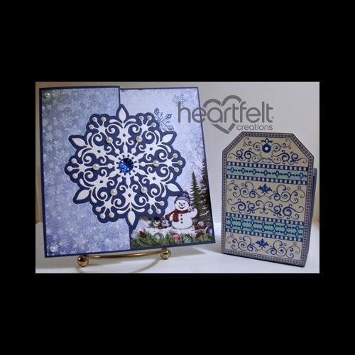 Snowflake Card And Tag Gift Box
