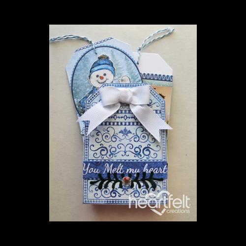 Snowflake Mini Tag Album And Box