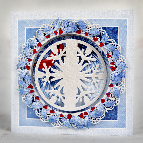 Snowflakes and Holly
