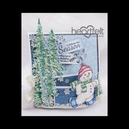Snowman And Trees Bendi Fold Card