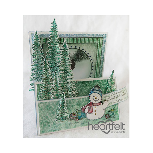 Snowman And Trees Flip Fold Card