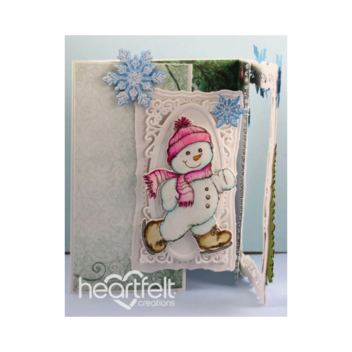 Snowman Interlocking Gate Card