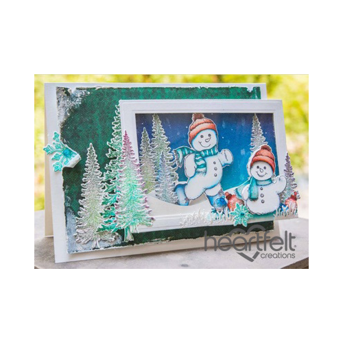 Snowmen Framed Shaker Card
