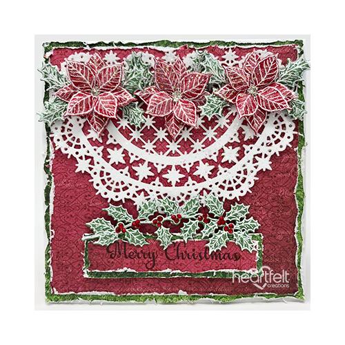 Snowy Christmas Poinsettia