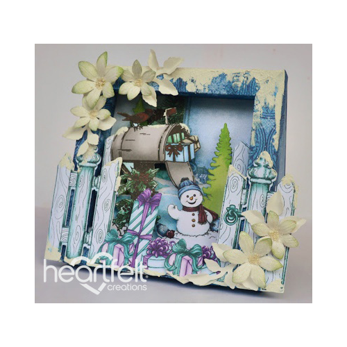Snowy Scene Shadow Box Card