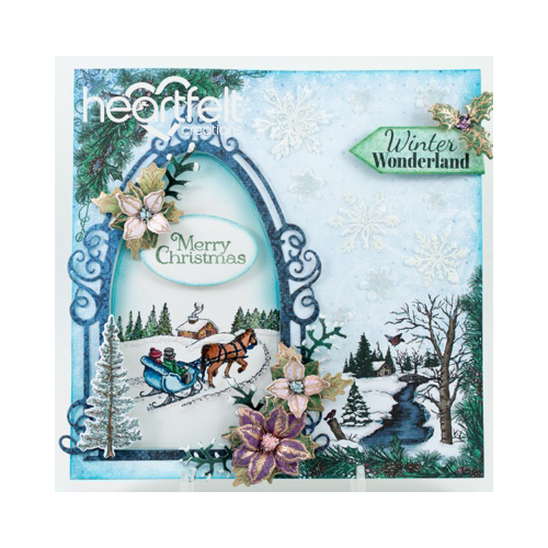 Snowy Scene Window Card