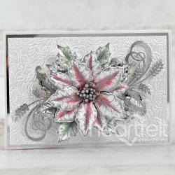Sparkling Silver Poinsettia