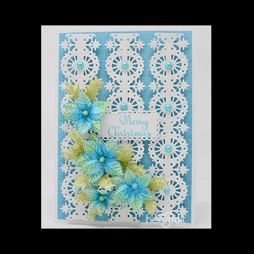 Starry Borders Poinsettia