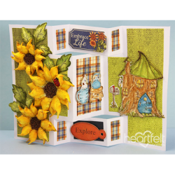 Sunflower Tri-Shutter Card