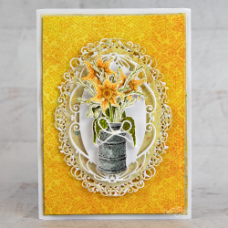 Sunflower Ornate Oval