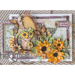 Sunflowers And Butterflies Window