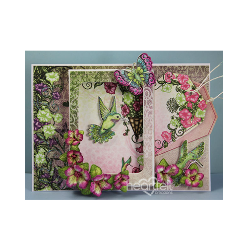 Summer Florals Shadow Box Card