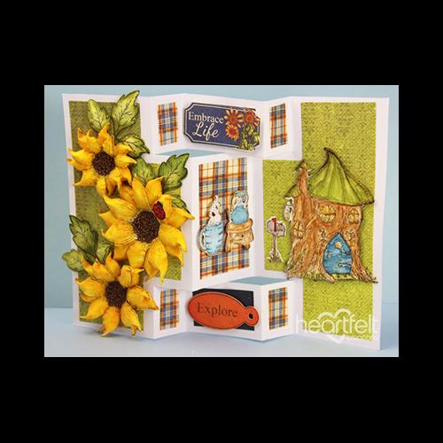 Sunflower Tri-Shutter Card