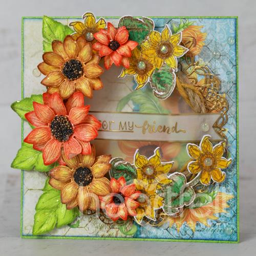 Sunflower Rope Wreath