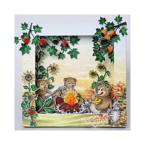 Sunflowers And Bears Shadow Box