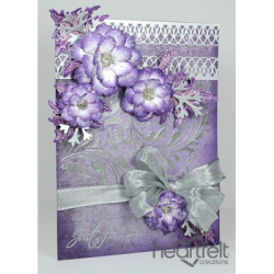 Sweet Plum And Silver Blooms