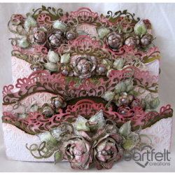 Tattered Rose Foldout Card