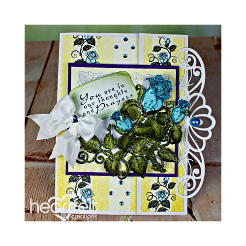Thoughts And Prayers Teal Roses