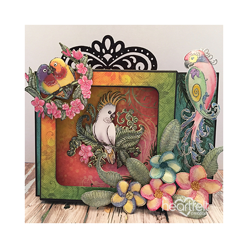 Tropical Shadow Box Scene