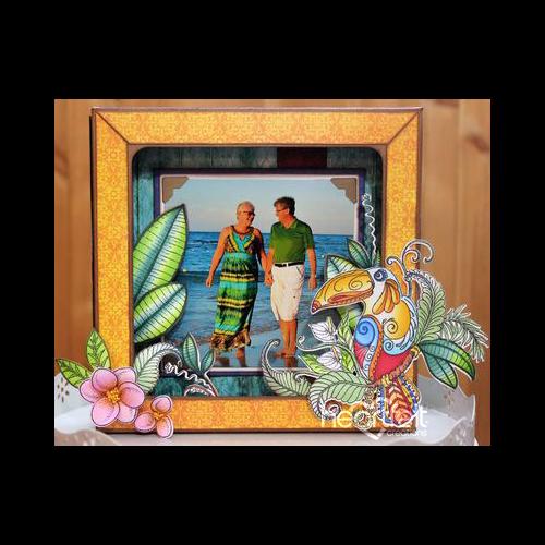 Tropical Vacation Shadowbox