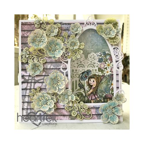 Vellum Floral Window