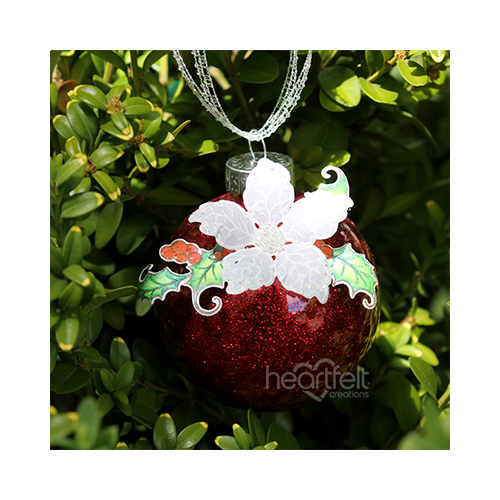 Vellum Poinsettia Ornament