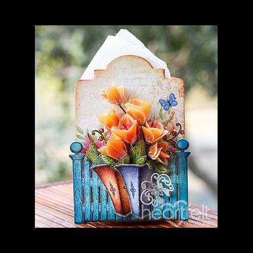 Vellum Tulips Tissue Box