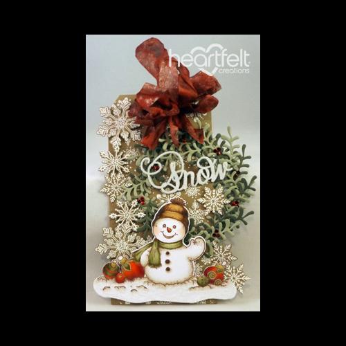 Vintage Christmas Snowman Tag