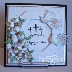 White Easter Crosses