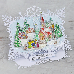 Winter Village Easel