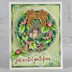 Winter Wreath with owls