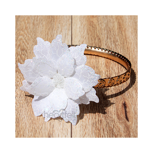 Winter Poinsettia Bangle