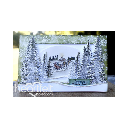 Winter Wonderland Sleigh Scene