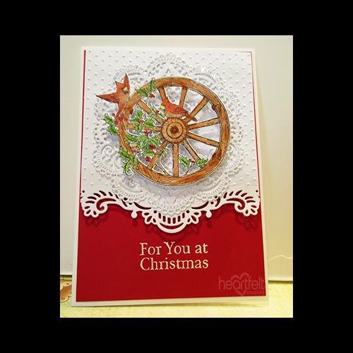 Wood Christmas Wheel